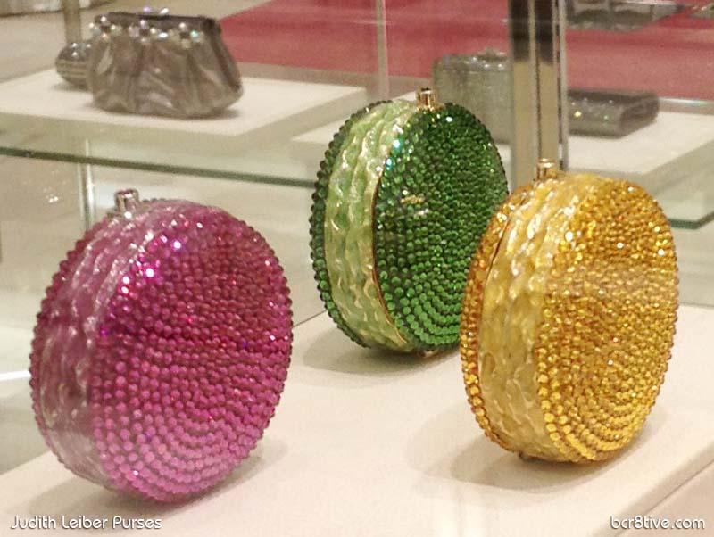 Judith Leiber Crystal Macaron Pillbox Display