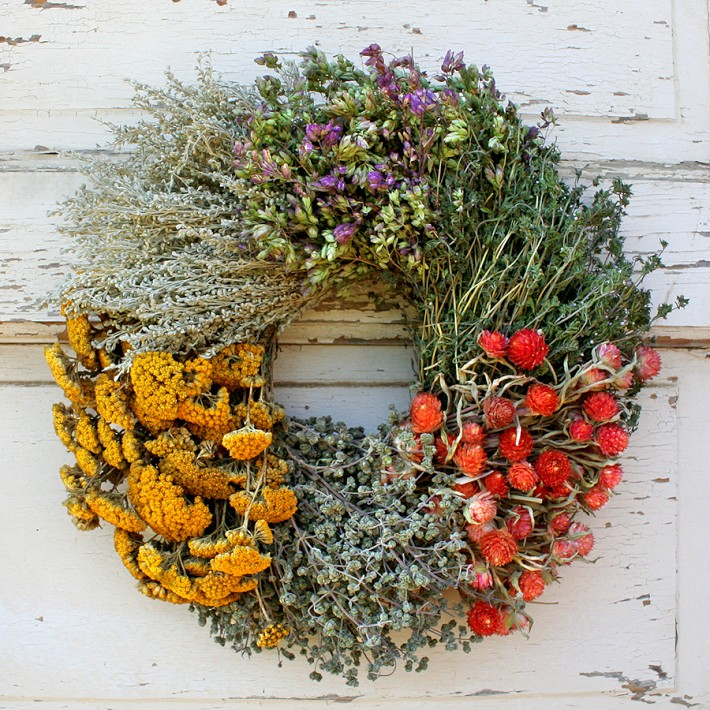Floral Herb Wreath - Williams-Sonoma