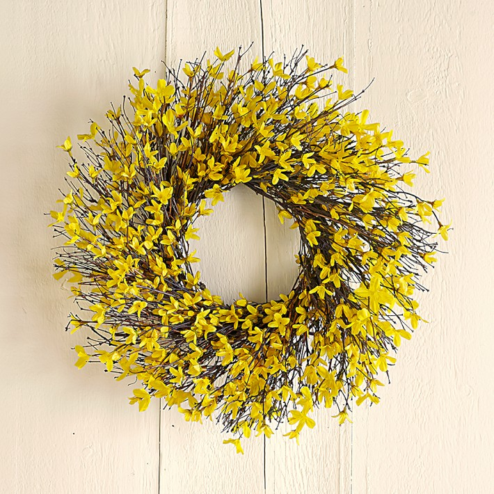 Forsythia Wreath - Williams-Sonoma