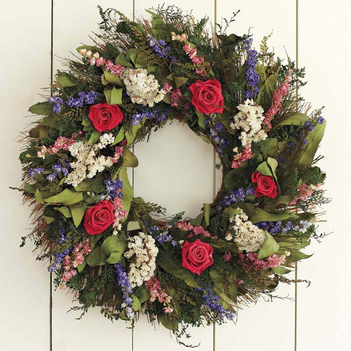 Williams Sonoma - Garden Rose Wreath