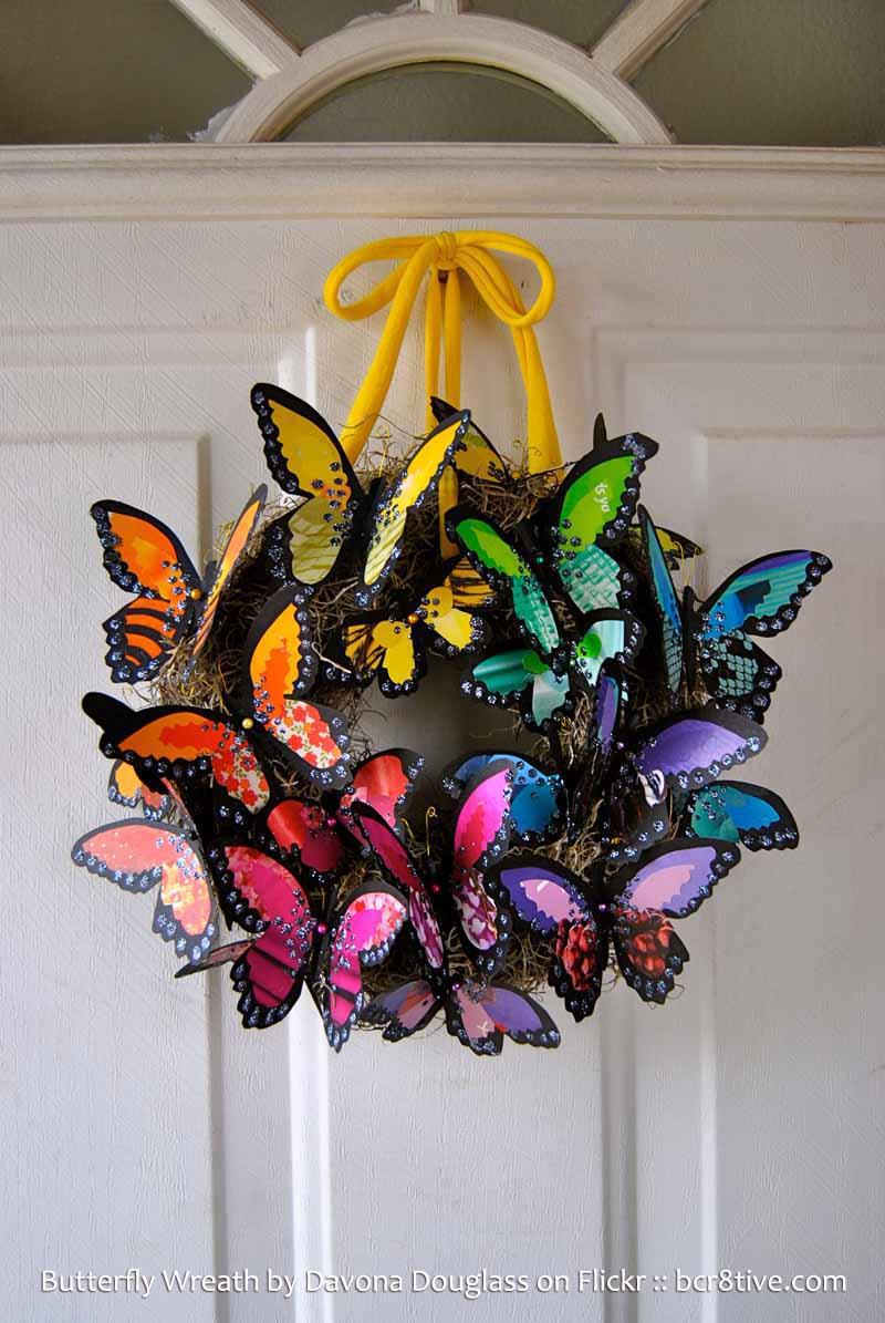 Davona Douglass Butterfly Wreath - Creative Butterfly Decor