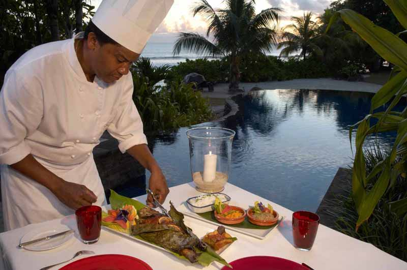 Dining at the Maia Luxury Resort & Spa - Seychelles