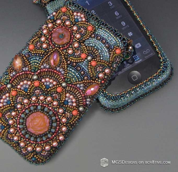 Beaded Phone Case by MGS Designs
