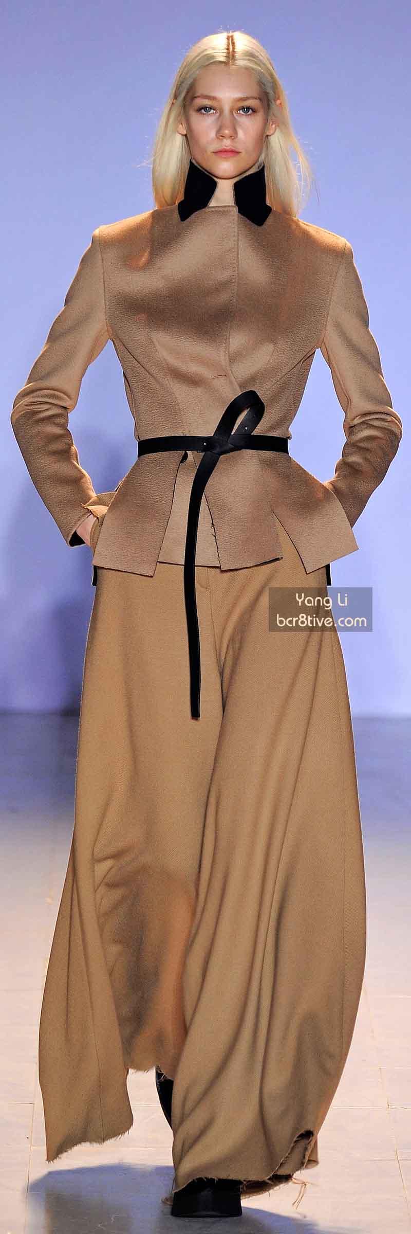 Yang Li FW 2014 #ParisFashionWeek