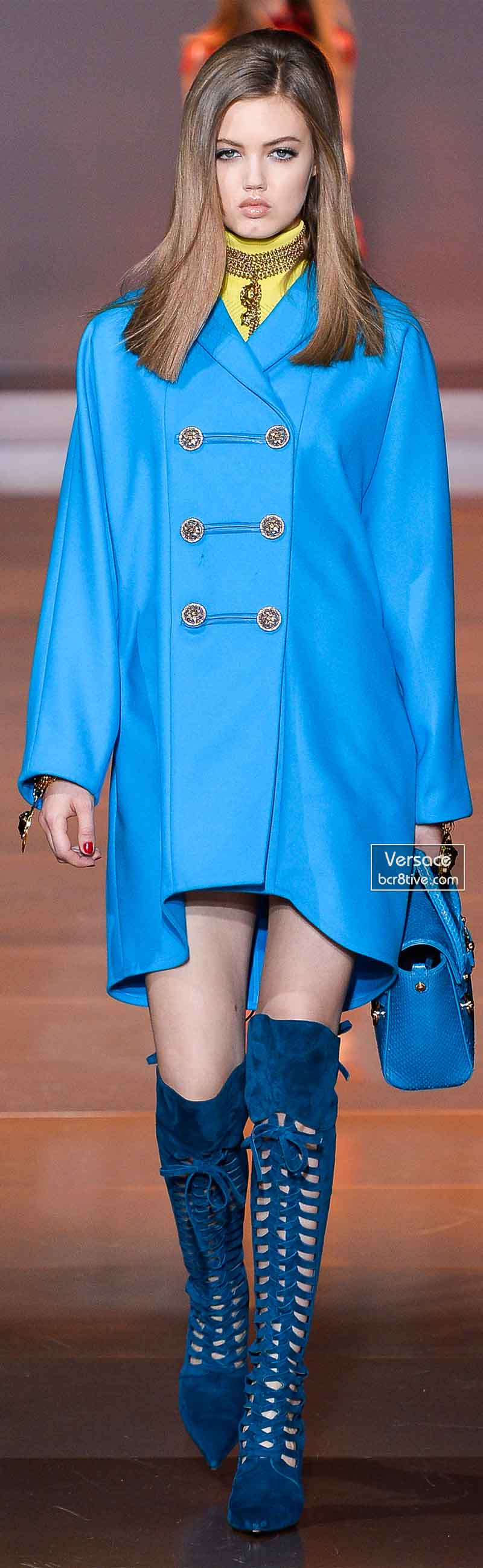 Versace Fall 2014 - Lindsey Wixson
