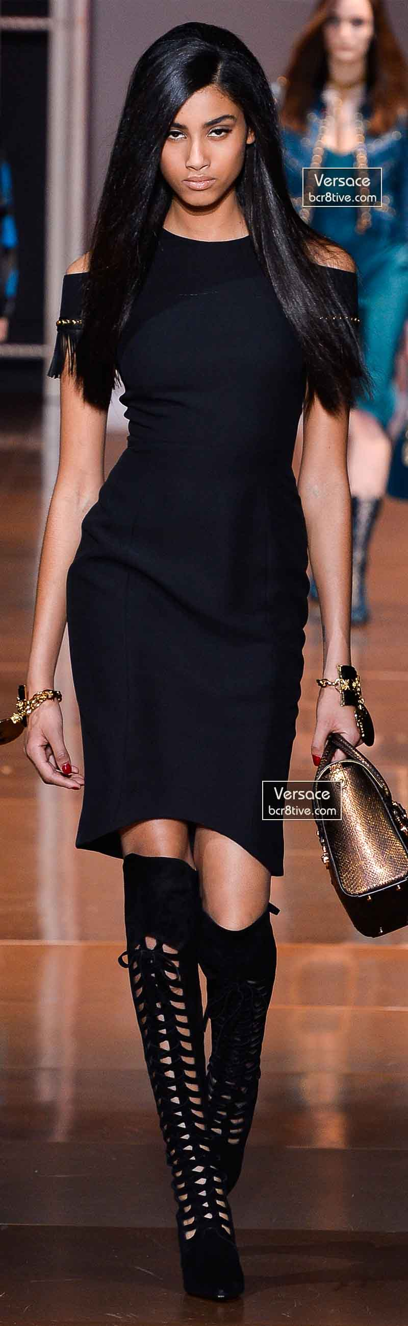 Versace Fall 2014 - Imaan Hammam
