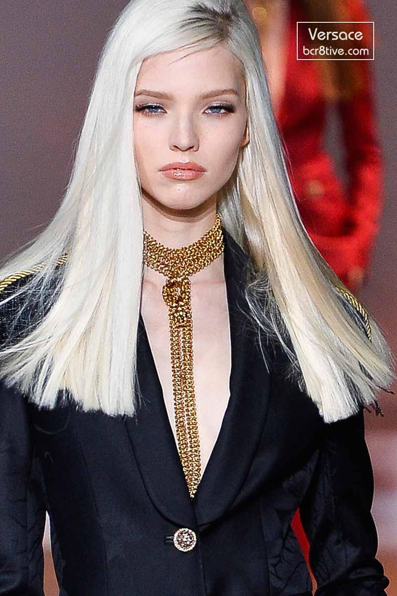 Sasha Luss in Versace Fall 2014