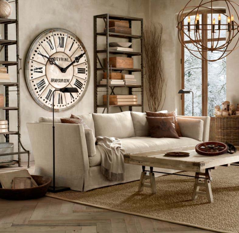 Large Wall Clock on Restoration Hardware