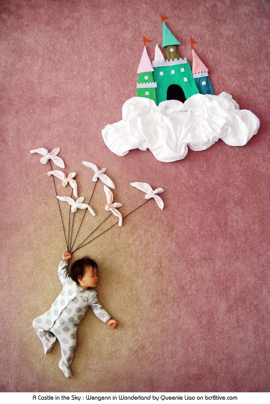 A Castle in the Sky - Creative Baby Photography by Sioin Queenie Liao