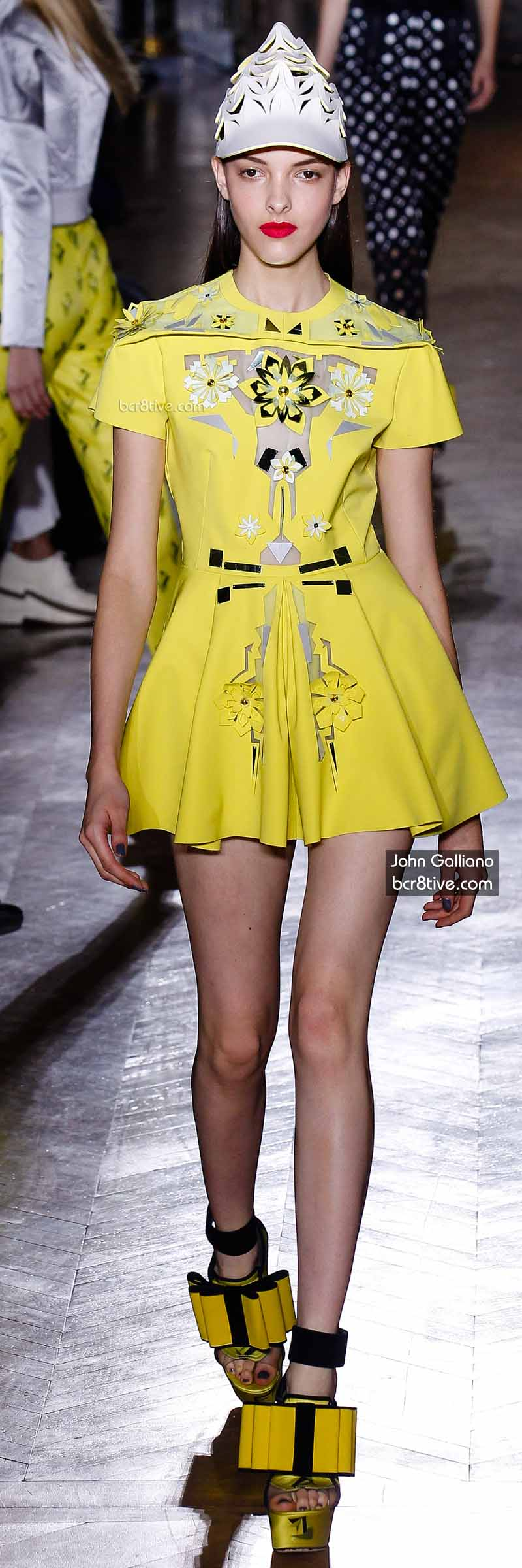 John Galliano - Mini Yellow Dress