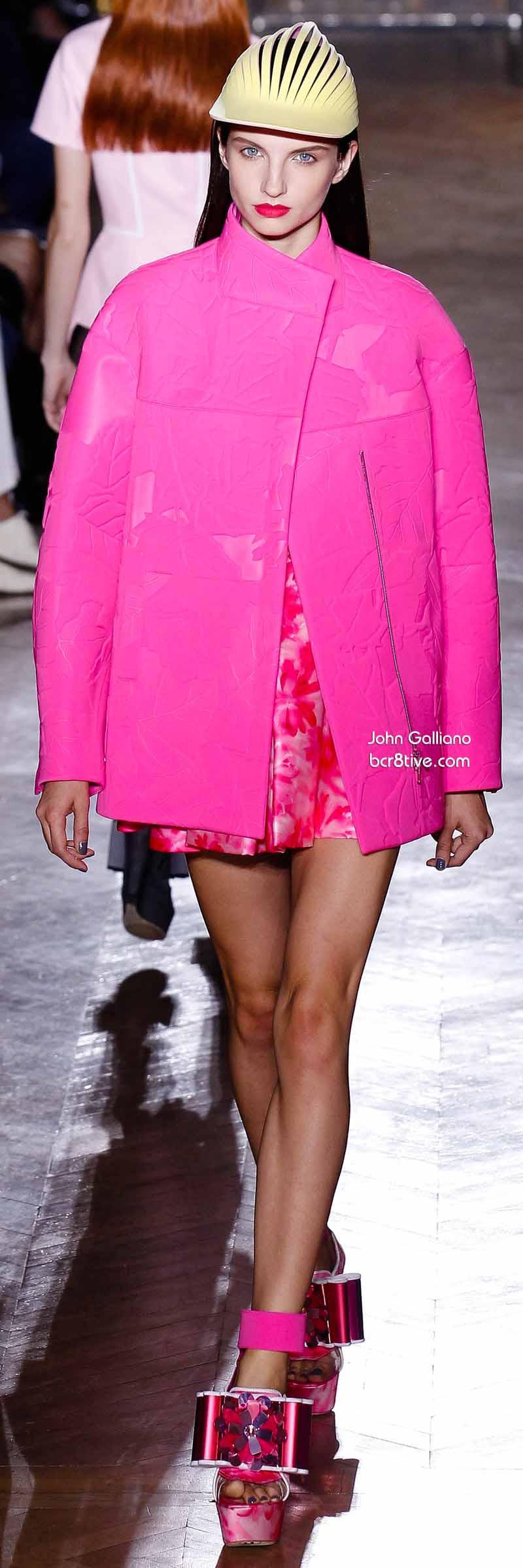 John Galliano - Hot Pink Coat