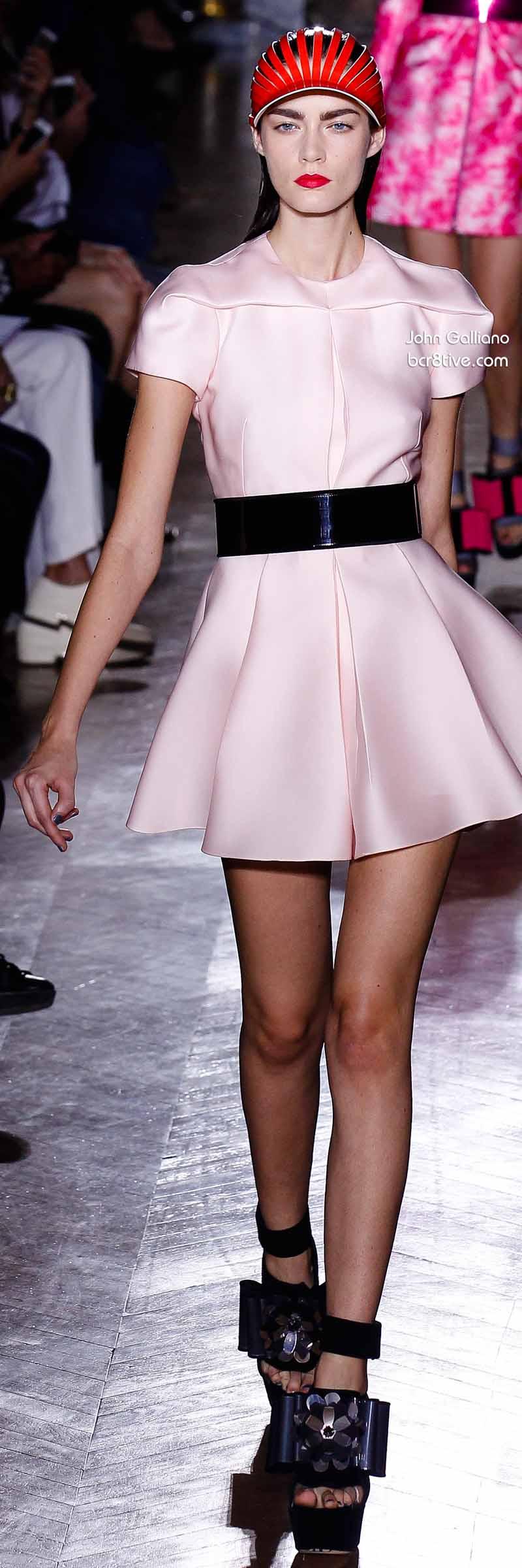 John Galliano - Baby Pink Skater Style Dress