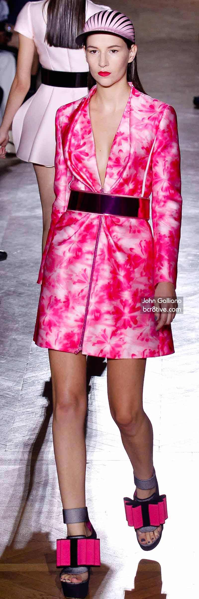 John Galliano - Amazing Hot Pink Short Coat