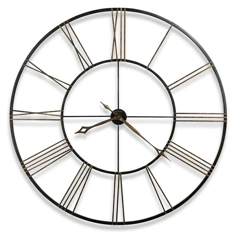 Postema Howard Miller Wrought Iron Wall Clock