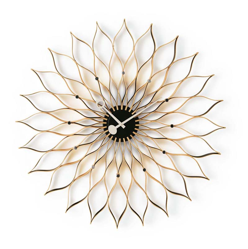 Sunflower Clock by Irving Harper