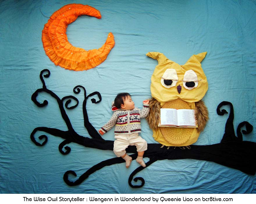 The Wise Owl Storyteller - Creative Baby Photography by Sioin Queenie Liao