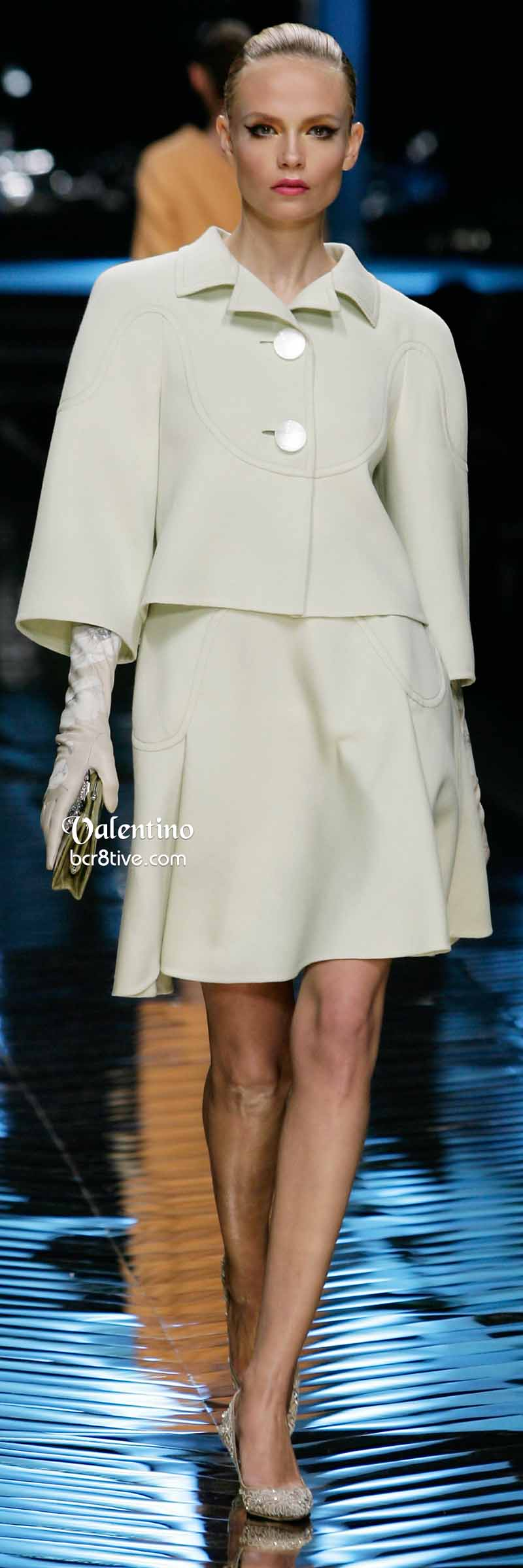 Valentino Off White Dress and Demi Jacket