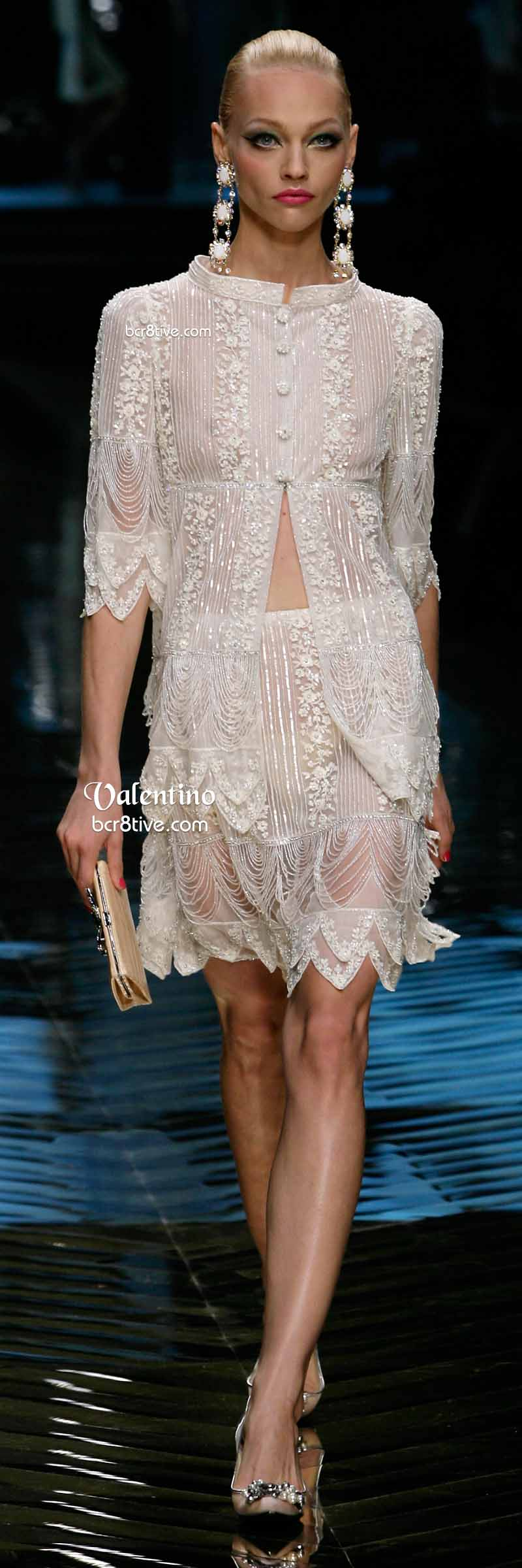 Valentino Exquisite White Lace Evening Dress