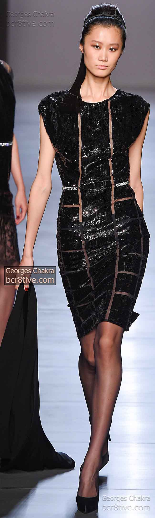 Striking Black Sequin Dress