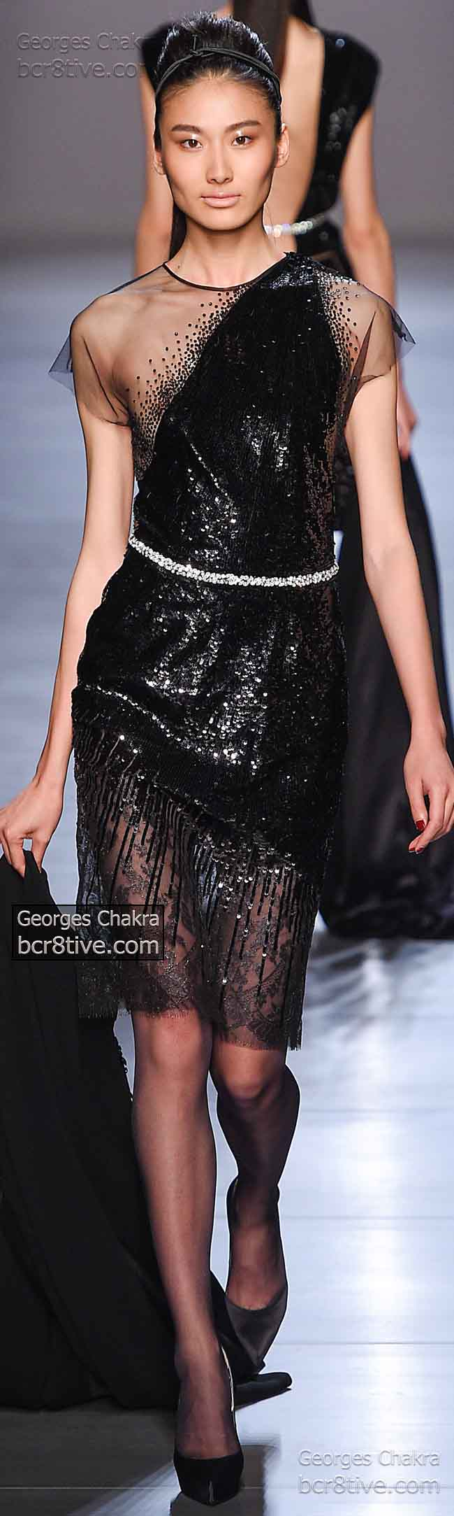 Black Sequins and Beading Tribal Style