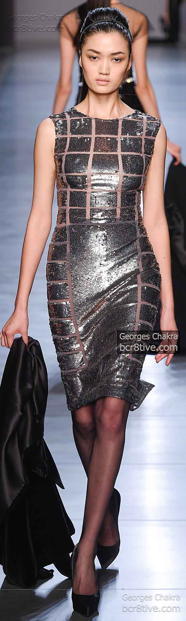 Glowing Silver Sequins