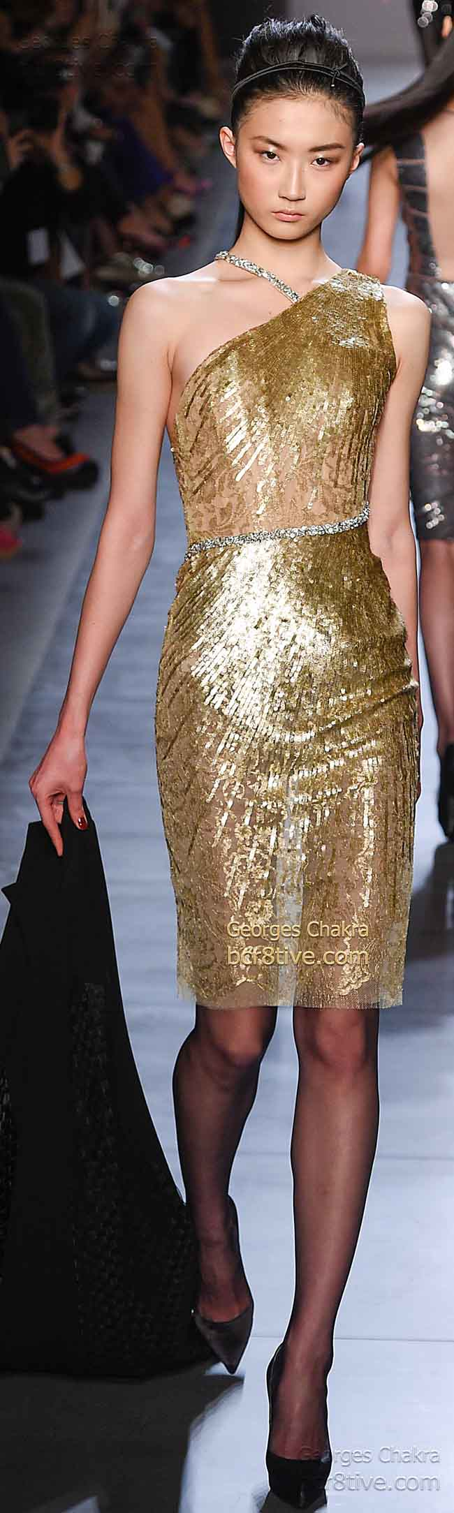 Delicate Gold Beading and Sequins