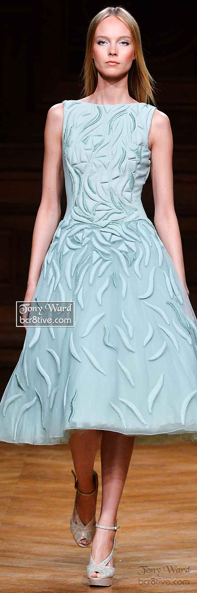 Sculpted Mint Green Mid Length Formal Dress