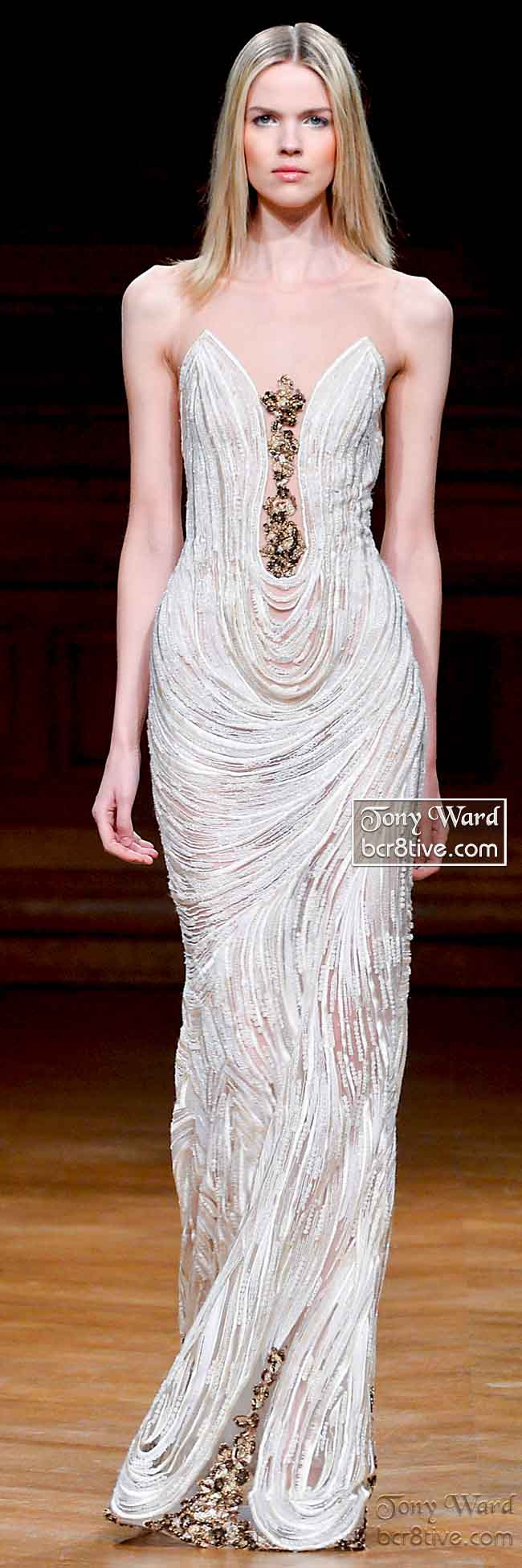 Artfully Beaded Evening Gown