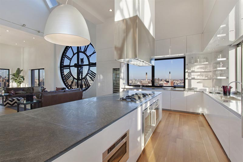 Kitchen in the Clock Tower Penthouse New York