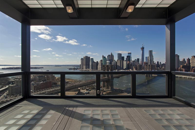 Patio View from the Clock Tower Penthouse New York