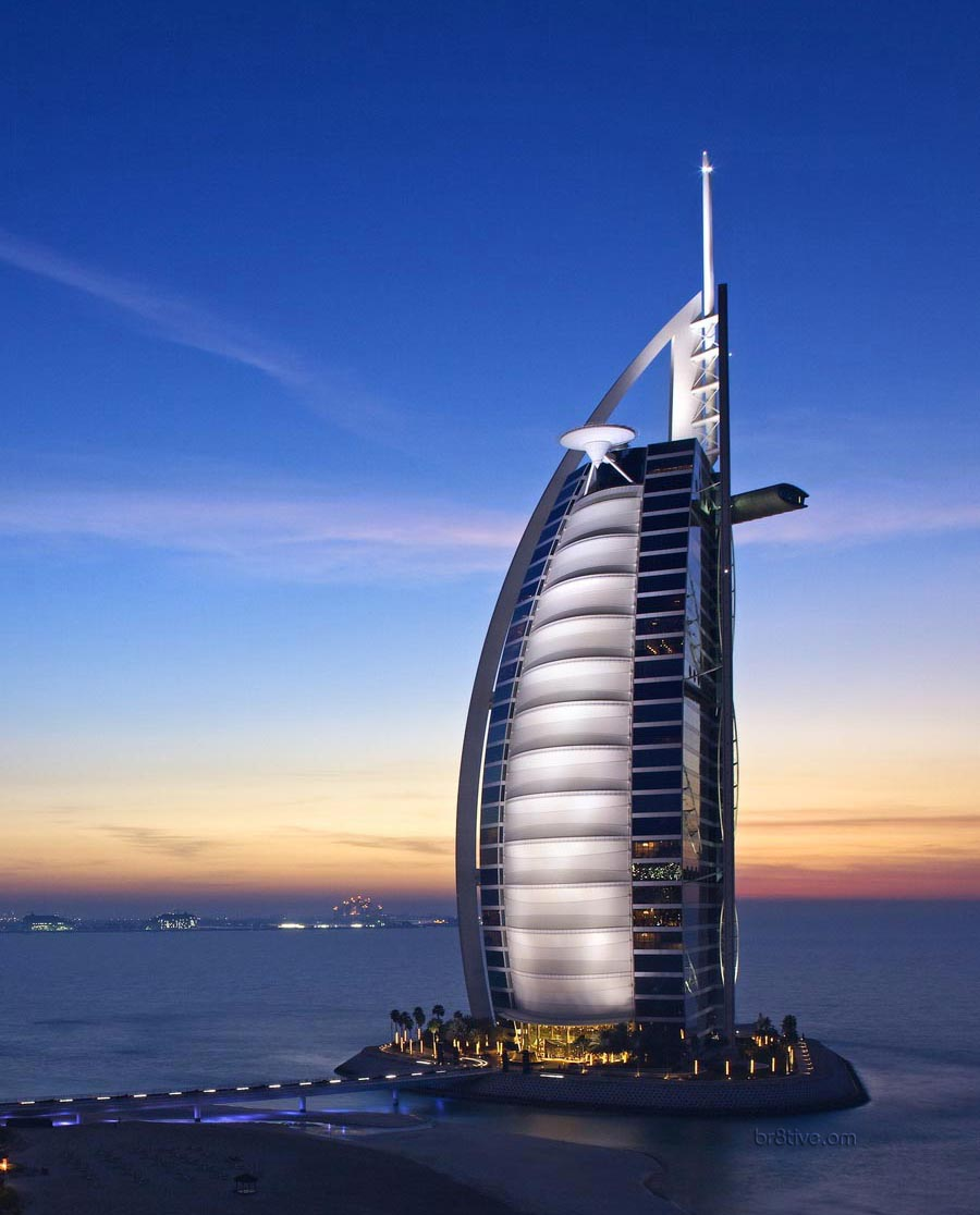 Burj Al Arab Jumeirah Hotel, Dubai at Sunset