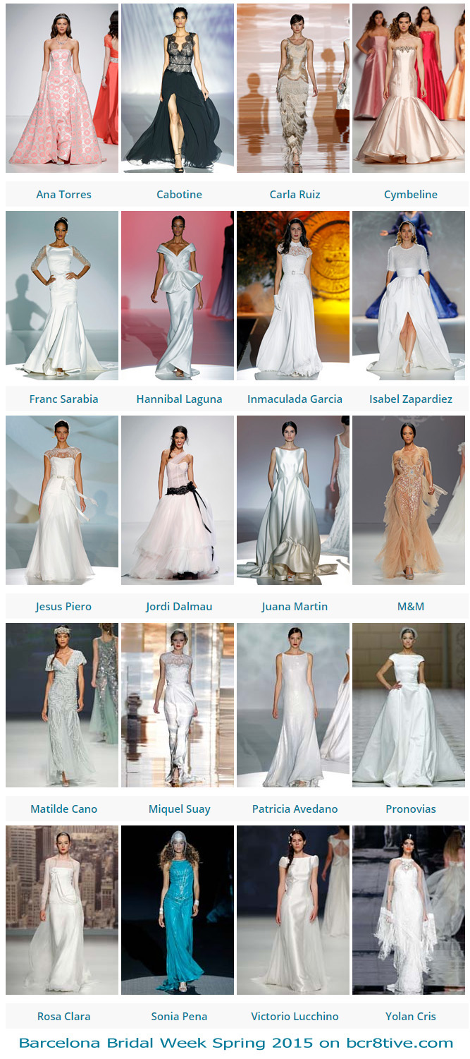 Barcelona Bridal Week Spring 2015 on bcr8tive.com