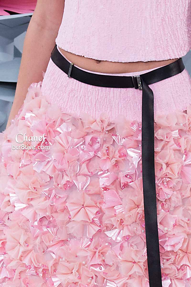 Baby Pink Skirt with Blossoms