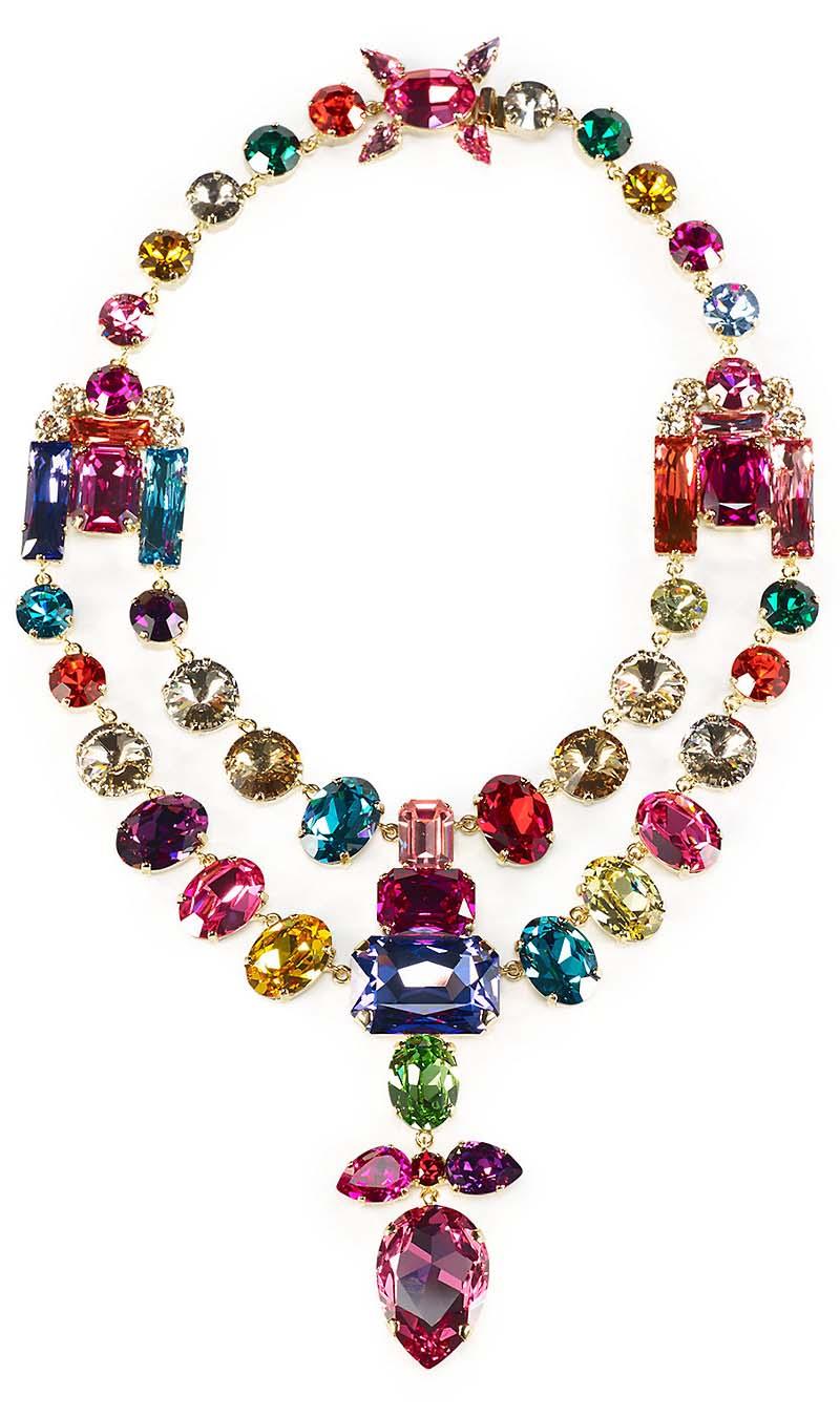 Ralph Lauren Swarovski Teardrop Necklace