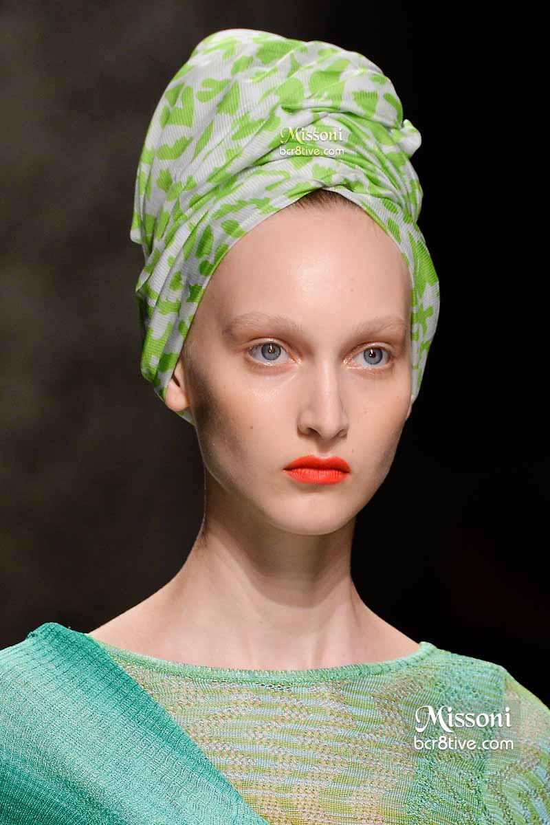 Missoni Spring 2015 - Light Green Hair Turban
