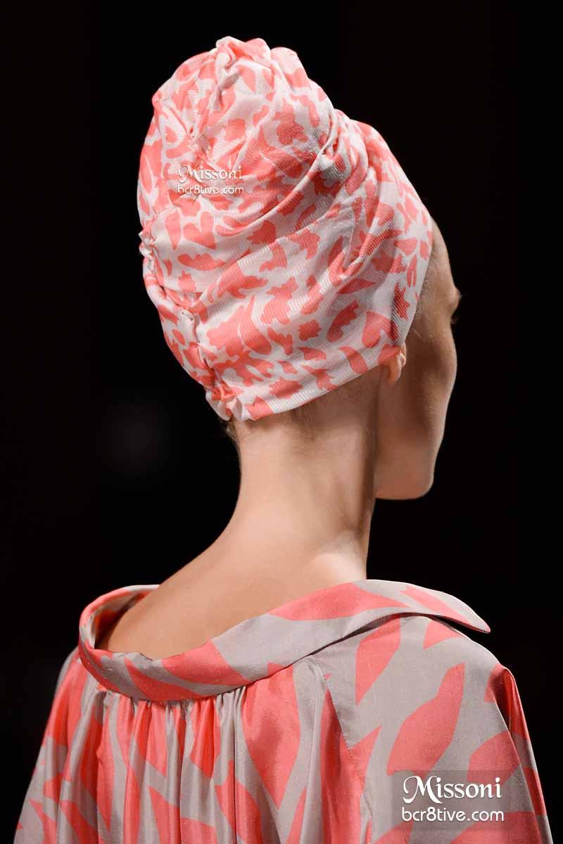 Missoni Spring 2015 - Coral Printed Hair Turban