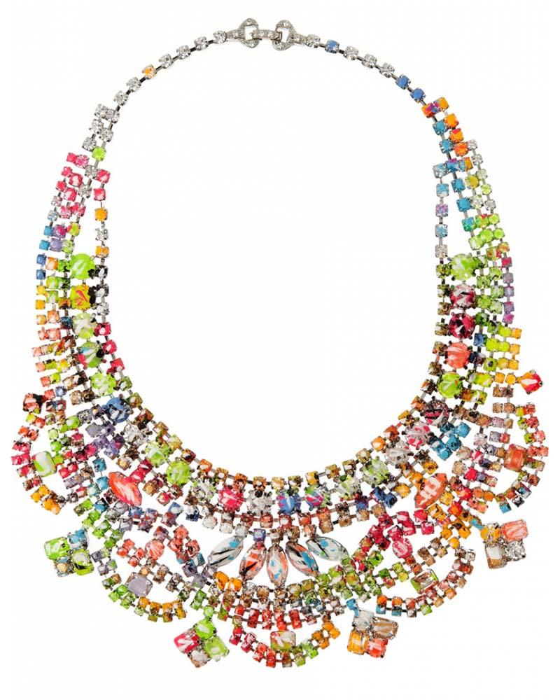 Tom Binns Designs - A Riot of Color Glow-in-the-Dark Swarovski Crystal Necklace