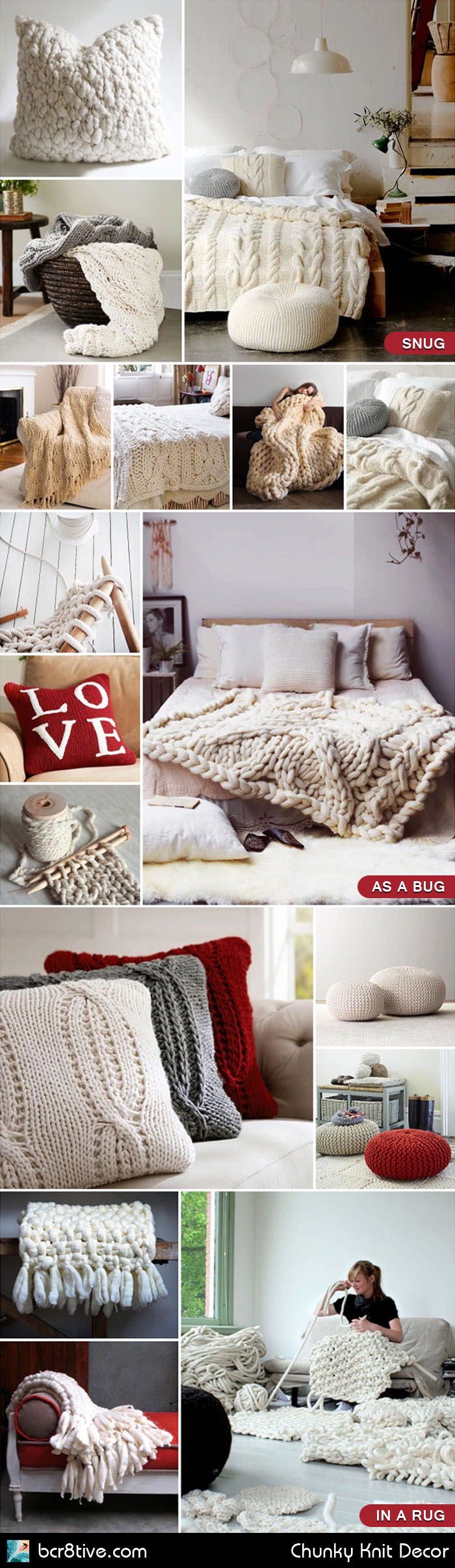 Chunky Knit Decor on bcr8tive.com