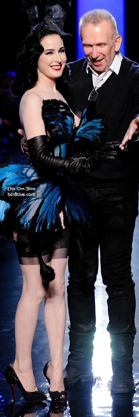 Dita Von Teese & Jean Paul Gaultier - SS14 Paris