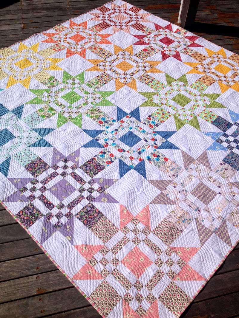 Red Letter Day Quilt by Jeanette Bruce