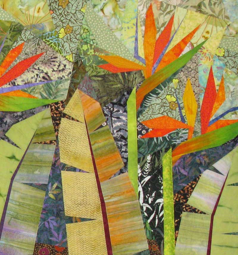 Terry Aske - Paradise Garden Quilt - Close Up