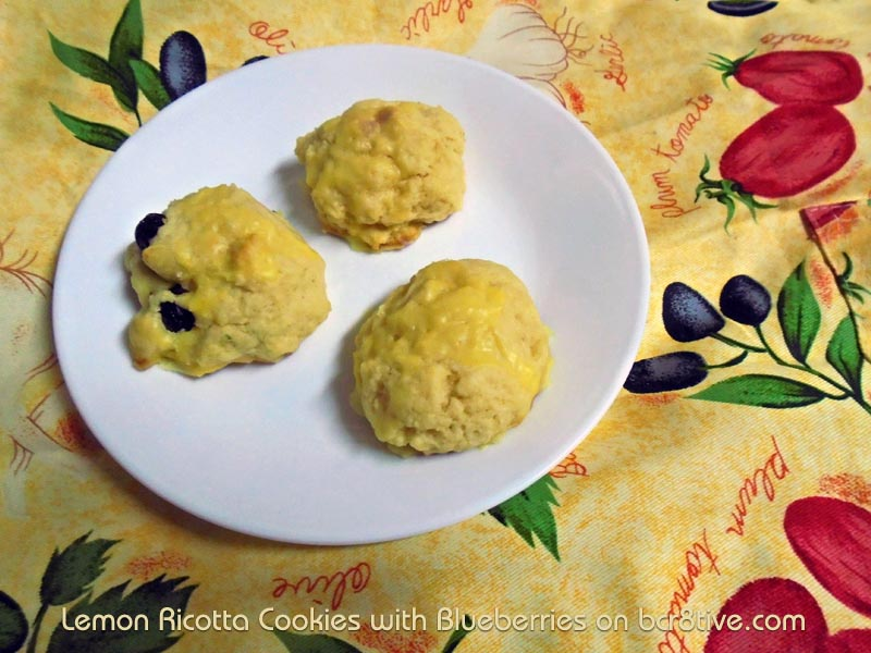 Lemon Ricotta Blueberry Cookies and Lemon Ricotta Cookies