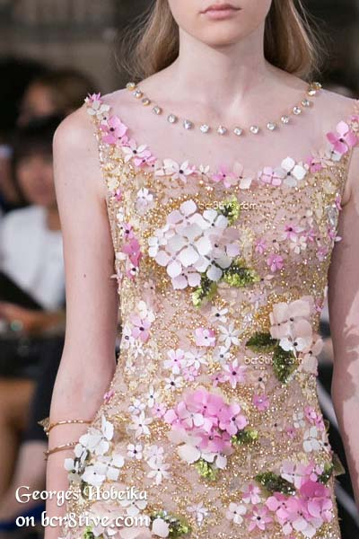 Crystals, Beaded Embroidery and Appliques - Georges Hobeika Fall 2016 Haute Couture Details