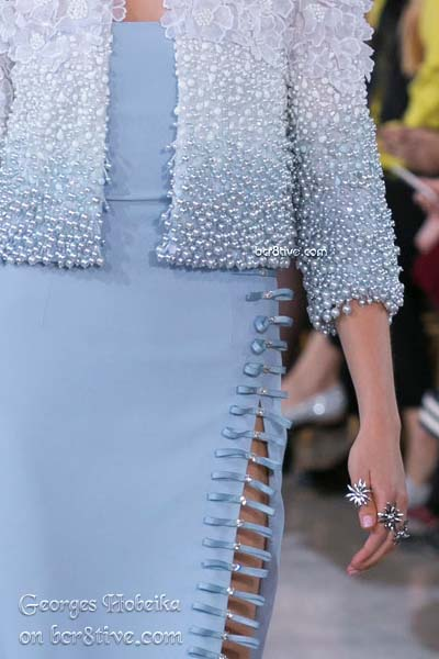 Pearl Embroidery - Georges Hobeika Fall 2016 Haute Couture Details