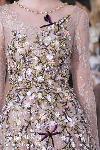 Embroidered with Dragonflies - Georges Hobeika Fall 2016 Haute Couture Details