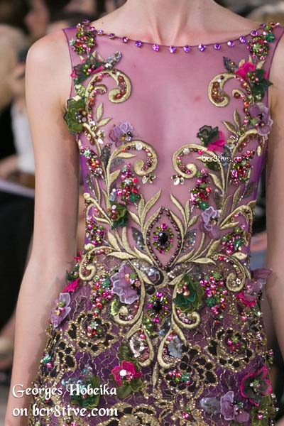 Elaborate Embroidered Fashion - Georges Hobeika Fall 2016 Haute Couture Details