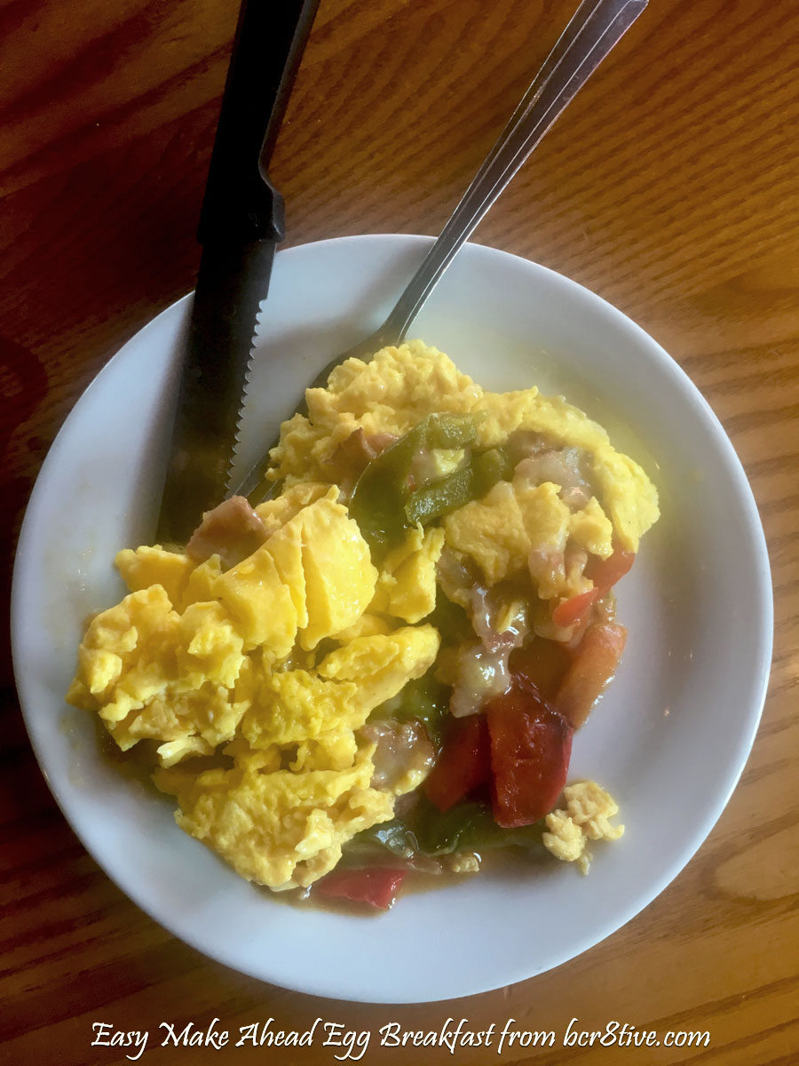 Easy Make Ahead Egg Breakfast from bcr8tive