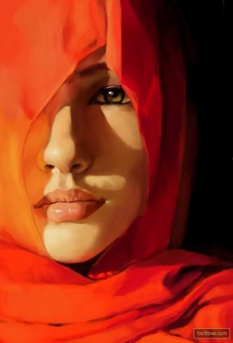 Hijab Fine Art Painting