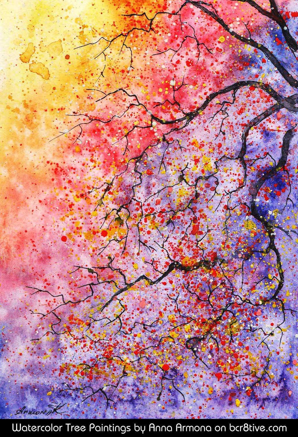 Anna Armona's Watercolor Trees